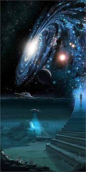 Une entité navigue entre 2 mondes au fil de ses incarnations